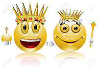 king queen glossy smile icon