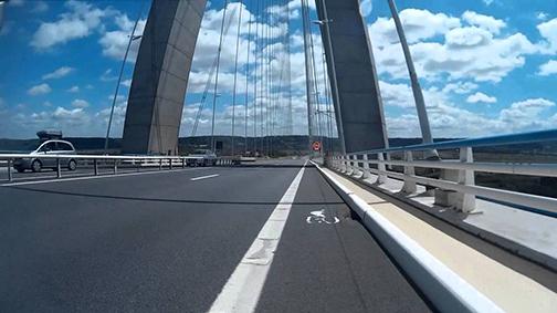 Le pont de Normandie à vélo ! (2)